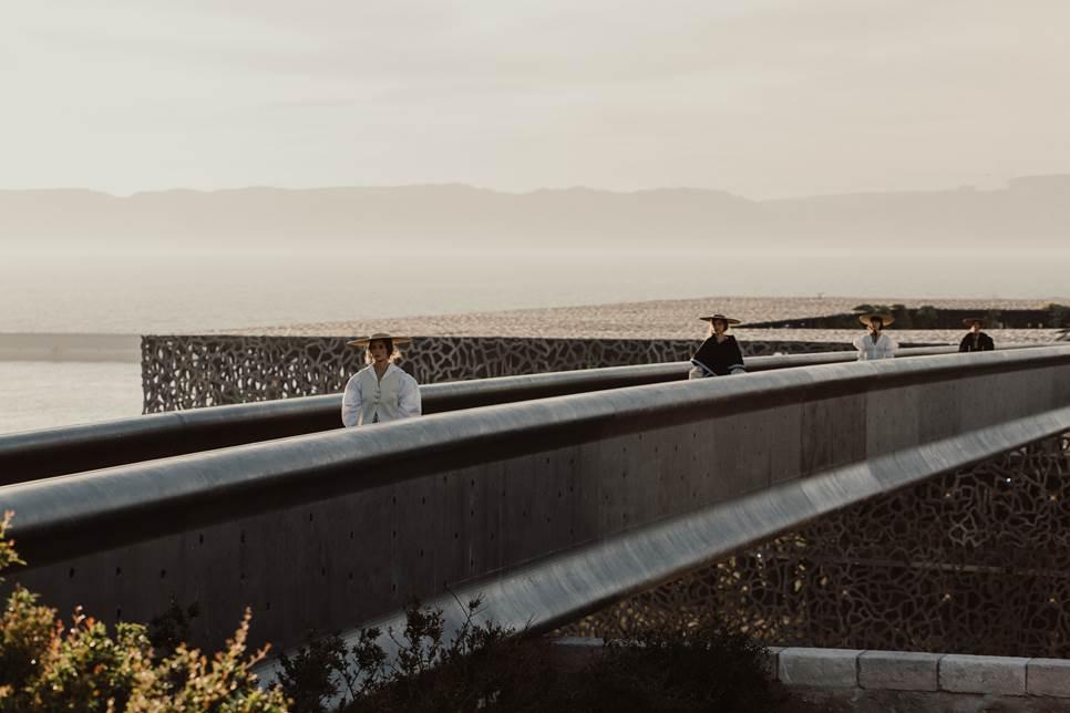 Défilé Jacquemus coiffé par VP © Architectes Rudy Ricciotti et Roland Carta : Mucem
