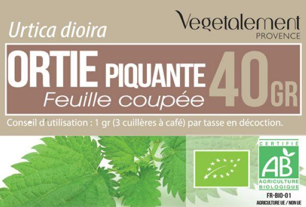 Tisane bio Ortie Végétalement Provence