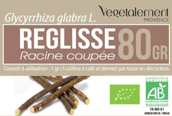 Tisane bio Réglisse Végétalement Provence