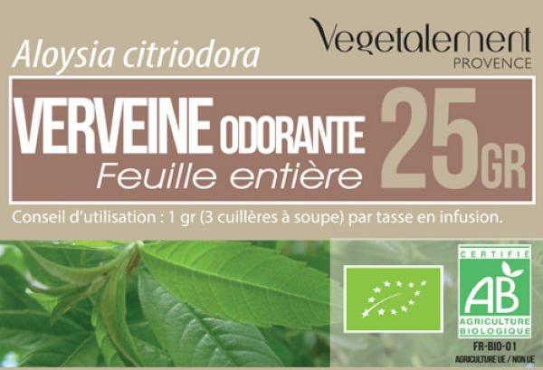 Tisane Verveine bio Végétalement Provence