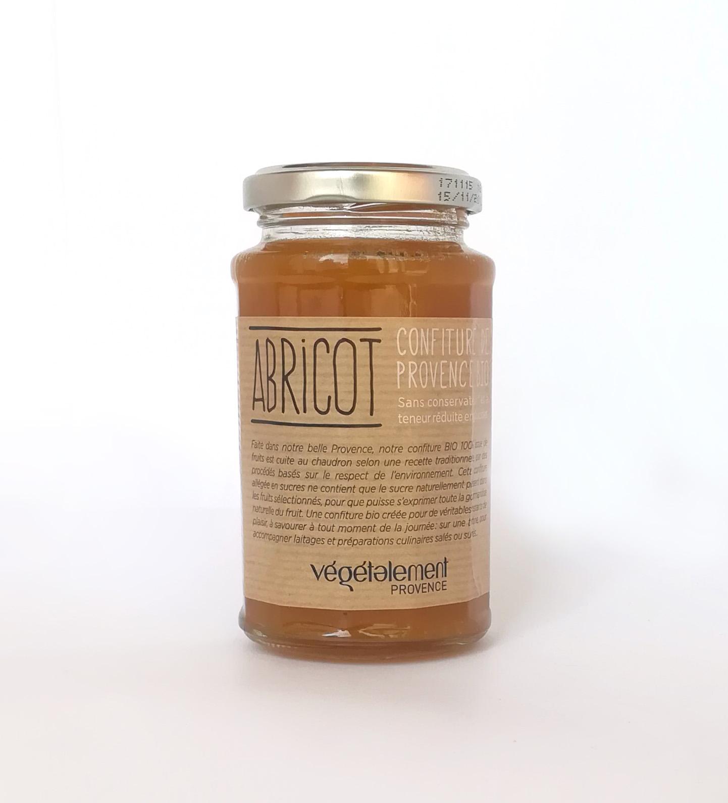 Confiture bio à 100% d'abricot