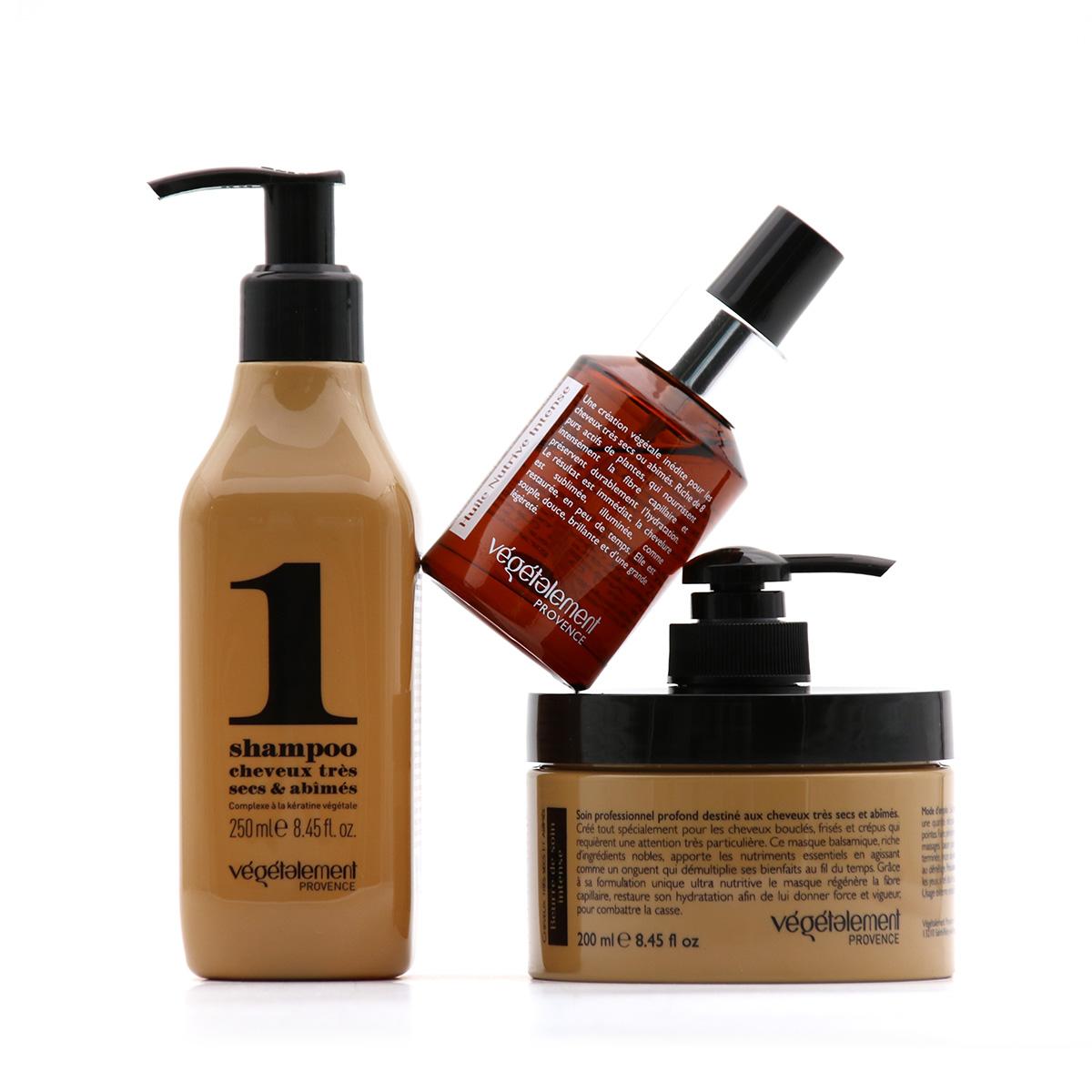 Gamme entretien soin intensen cheveux à la kératine 100% végétale by Végétalement Provence